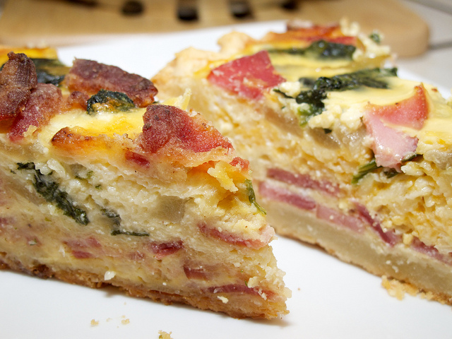 Quiche. Picture licensed under CC. By Micah Elizabeth Scott.