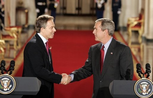 Tony Blair and George Bush