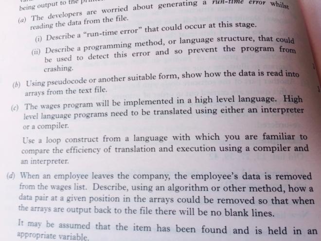 Pseudo Code Higher Computing