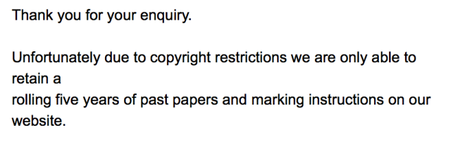 SQA Copyright Restrictions
