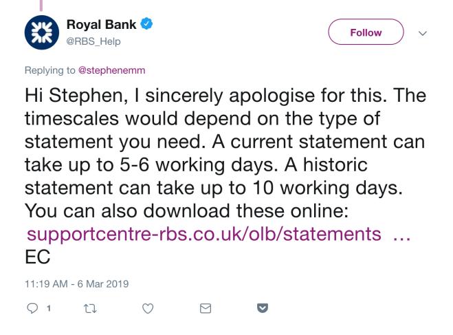 RBS Statements