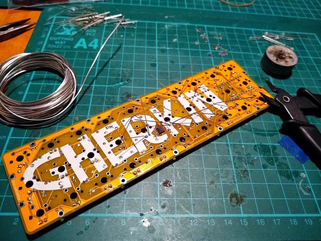 Gherkin LED build log